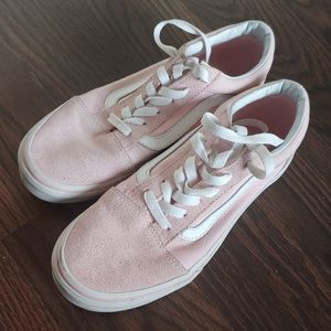 Pink girls 5 suede Vans Old Skool
